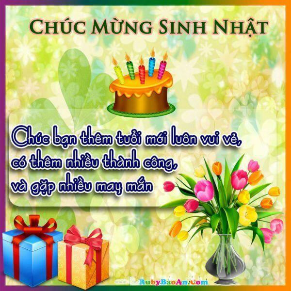 Lời chúc sinh nhật bạn bè