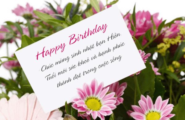 Lời chúc mừng sinh nhật tặng bạn bè